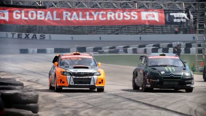 Bucky Lasek Rail Grinds his Subaru PUMA Rallycross STI at GR